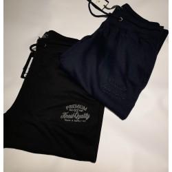 Παντελόνι φόρμα φούτερ DOUBLE XL-7XL blue&black