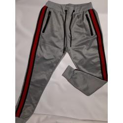 Παντελόνι φόρμα γκρί με κόκκινη ρίγα