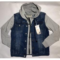 grey-blue jeans jacket